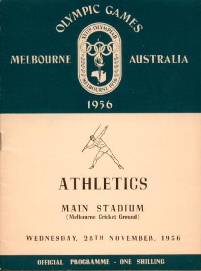 The Athletics Program cover for 28 November