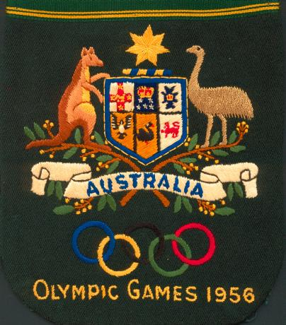 The famous Australian bottle green blazer had the traditional Australian Olympic coat of arms on it