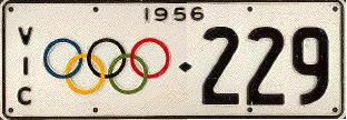 Licence Plates issued for the Olympic Year in Victoria have become collector's items
