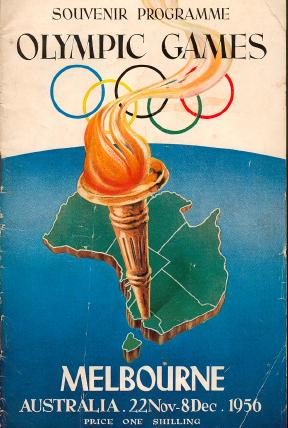 Souvenir Program covering Olympic Games